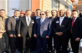 زيارة الرئيس السيسى لمدينة السادات بالمنوفية