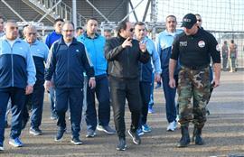 الرئيس السيسى يزور كلية الشرطة صباح