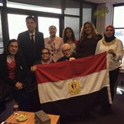 المصريون بنيوزيلندا يحتفلون بعد التصويت