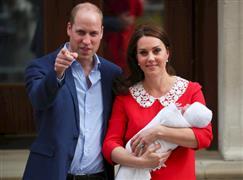 الأمير ويليام وزوجته كيت ميدلتون يضعون