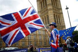 مظاهرات أمام البرلمان الإنجليزي لرفض