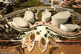 تصميم مركز ثقافي صيني على شكل زهرة الياسمين