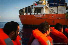 """بنما تسحب ترخيص سفينة الإنقاذ """"أكواريوس ٢"""""""