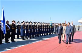 وصول السيد الرئيس عبد الفتاح السيسي