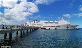 سفينة طبية بحرية صينية تقوم بأول زيارة