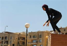 "أول ""باركور"" نسائي.. مصريات يتسلقن"