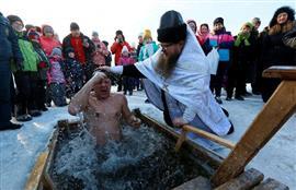احتفالات عيد الغطاس للمسيحيين الأرثوذكس