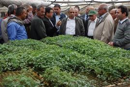 وزير الزراعة يتفقد محطة بحوث الخضر بقها