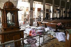 سلسلة من الانفجارات في سيريلانكا في