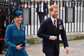 الأمير هاري وكاثرين دوقة كامبريدج يشاركان