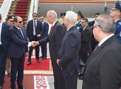 الرئيس السيسي يصل العاصمة البيلاروسية مينسك