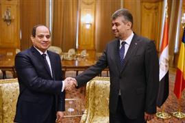 لقاءات مكثفة للرئيس السيسي في رومانيا