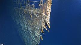 """أول صور عالية الجودة لحطام السفينة """"تيتانيك"""""""