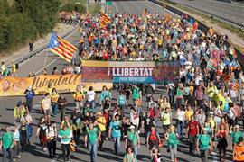 """تجدد مظاهرات """"انفصال كتالونيا"""" عن إسبانيا.."""