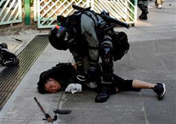 عنف وشغب فى مظاهرات هونج كونج