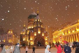 الثلج يحول شمال شرق الصين إلى مشهد جذاب