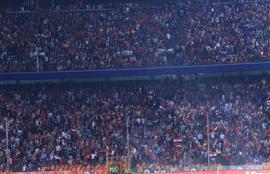حضور جماهيري حاشد لمؤازرة المنتخب المصري