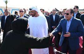 الرئيس السيسي وولي عهد أبو ظبي يفتتحان