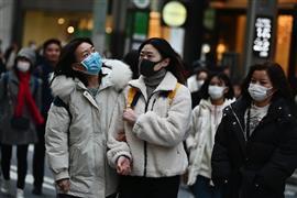 اليابانيون قلقون من انتشار فيروس كورونا