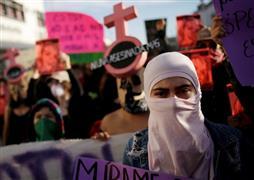 مظاهرات في المكسيك للمطالبة بحقوق المرأة