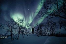 لقطات للشفق القطبى الشمالى فى سماء كيلبيسجارفي