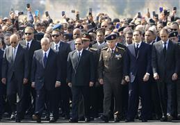 الجنازة العسكرية للرئيس الأسبق حسني مبارك
