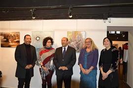 السفير المصري في إيطاليا يفتتح معرض