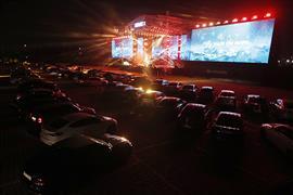 مسرح في كوريا الجنوبية يقيم حفلا موسيقيا