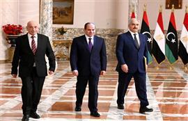 مباحثات الرئيس السيسي مع عقيلة صالح