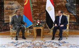الرئيس السيسي يستقبل نظيره الإريتري