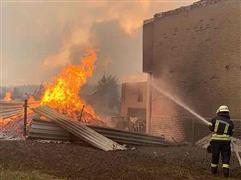 حرائق الغابات في قرية سموليانوف بأوكرانيا
