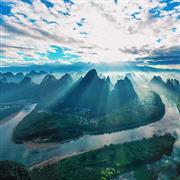 شروق الشمس من قمة جبل شيانج قونج جنوب الصين