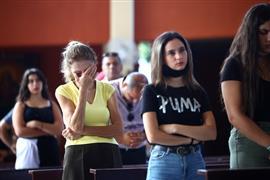 الحزن يخيم على قداس الأحد في كنائس العاصمة