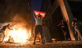 استمرار المظاهرات وأعمال العنف في لبنان