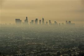 دخان كثيف يغطي سماء لوس أنجلوس بسبب