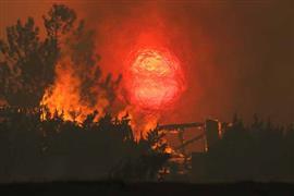 حرائق الغابات في ولاية كاليفورنيا