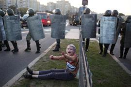 استمرار المظاهرات في بيلاروسيا ضد رئيس