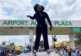 مظاهرات ضد الشرطة في نيجيريا