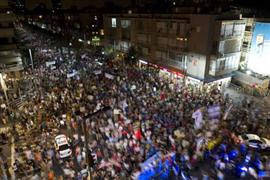 مظاهرات إسرائيل تفشل بسبب أحداث سيناء