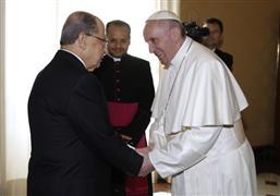 زيارة الرئيس اللبناني ميشيل عون إلى الفاتيكان (أسوشيتدبرس)
