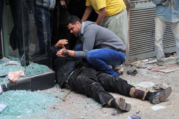 أثار انفجار الإسكندرية في محيط الكنيسة المرقسية بالعطارين