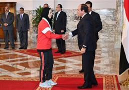 الرئيس السيسي يكرم الرياضيين الفائزين بمداليات فى البطولات العالمية