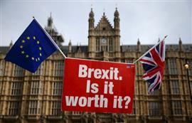 تظاهرات معارضة لخروج بريطانيا من الاتحاد الأوروبي أمام مبنى البرلمان الإنجليزي