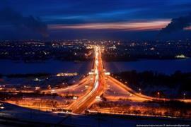 مدن روسيا نوفوسيبيرسك وكراسنويارسك بعيون الطائر