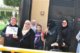 مشاركة المصريين في السعودية في الاستفتاء على تعديل الدستور