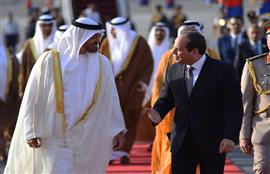السيد الرئيس عبد الفتاح السيسي يستقبل سمو الشيخ محمد بن زايد آل نهيان ولي عهد أبوظبي