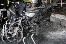 حريق بمستشفى للأمراض النفسية في أوديسا الاوكرانية