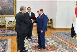 لقاءات الرئيس السيسي اليوم مع رئيس الوزراء ووزيري التعليم العالي والتضامن الاجتماعي ورئيس المحكمة ال