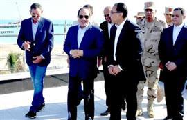 الرئيس السيسي يتفقد منتجع ماسة العلمين