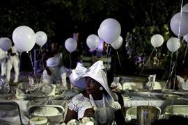 العشاء الأبيض في تاهيتي